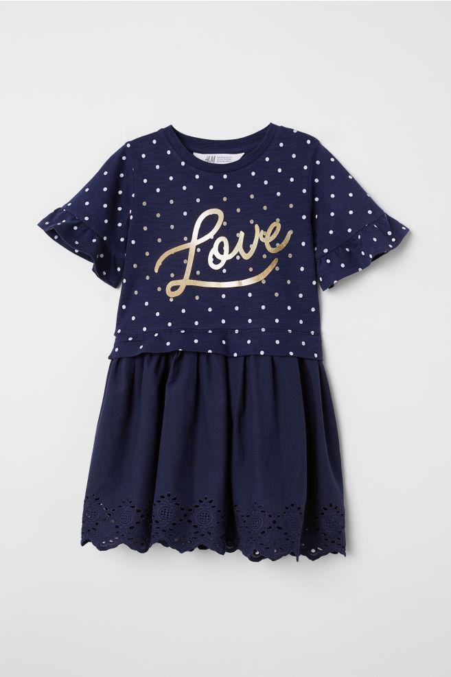 Стильное платье H&M с ажурной юбкой для девочек 2, 3, 4, 5, 6 лет  2-4