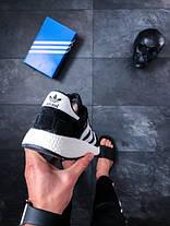Мужские кроссовки Adidas Iniki Runner Black / White топ реплика, фото 2