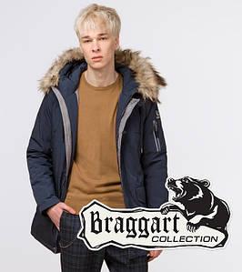 Подросток 13-17 лет   Зимняя куртка Braggart Teenager 25520 темно-синяя