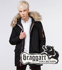 Подросток 13-17 лет   Зимняя куртка Braggart Teenager 25520 черная