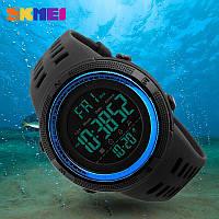 • Гарантия! Skmei (Скмей) Amigo 1251 Blue  Оригинальные спортивные мужские часы !