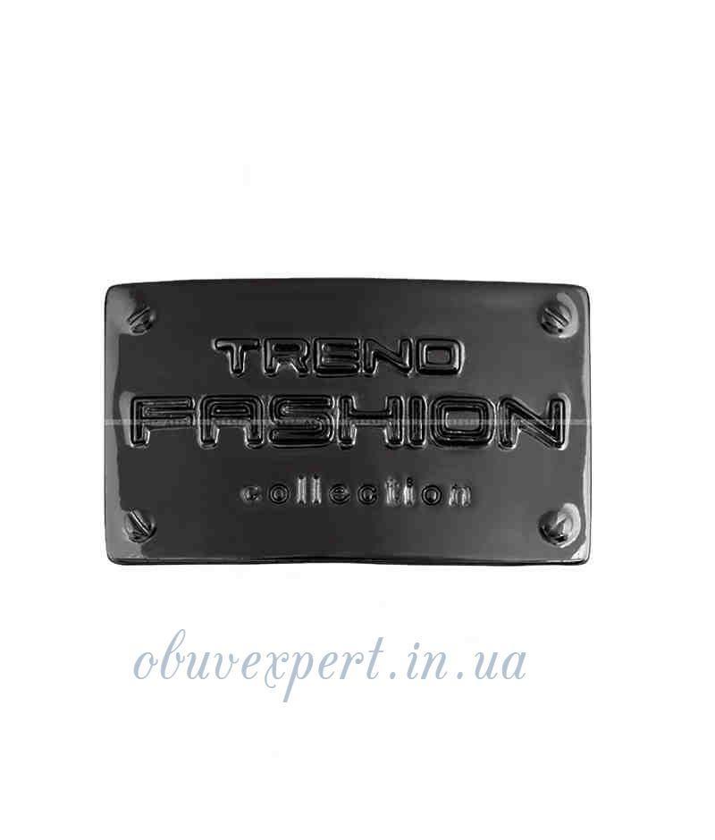 """Декоративная табличка  """"TREND FASHION collection"""" 25*41 мм черный никель"""