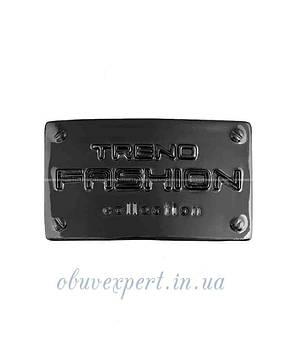 """Декоративная табличка  """"TREND FASHION collection"""" 25*41 мм черный никель, фото 2"""