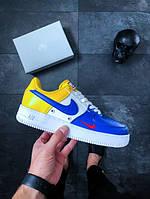 Мужские кроссовки Nike Air Force 1 '07 LV8 Deep Royal Blue топ реплика
