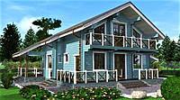 Дом деревянный  из профилированного бруса 15х13 м , фото 1