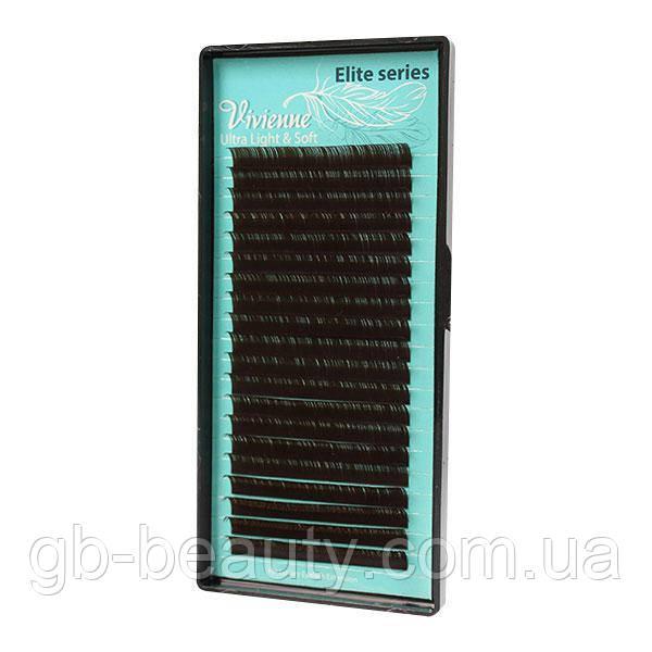 Черный-Шоколад ресницы растяжка Elite 0,12 C 6-10 (20 линий)