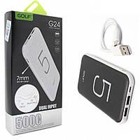 Внешний аккумулятор Power Bank Golf G24 5000mAh