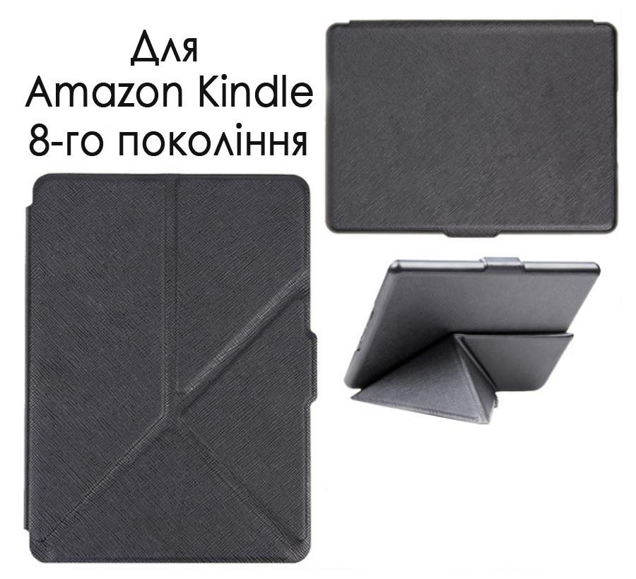 "Обкладинка-чохол для Amazon Kindle 8 (2016) Smart Origami - чорна 6"""