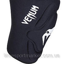 ЗАЩИТА КОЛЕНА VENUM KONTACT GEL KNEE PAD BLACK/WHITE, фото 2