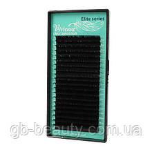 Черные ресницы в ЛЕНТАХ растяжка Elite 0,15 C 6-12 (20 линий)