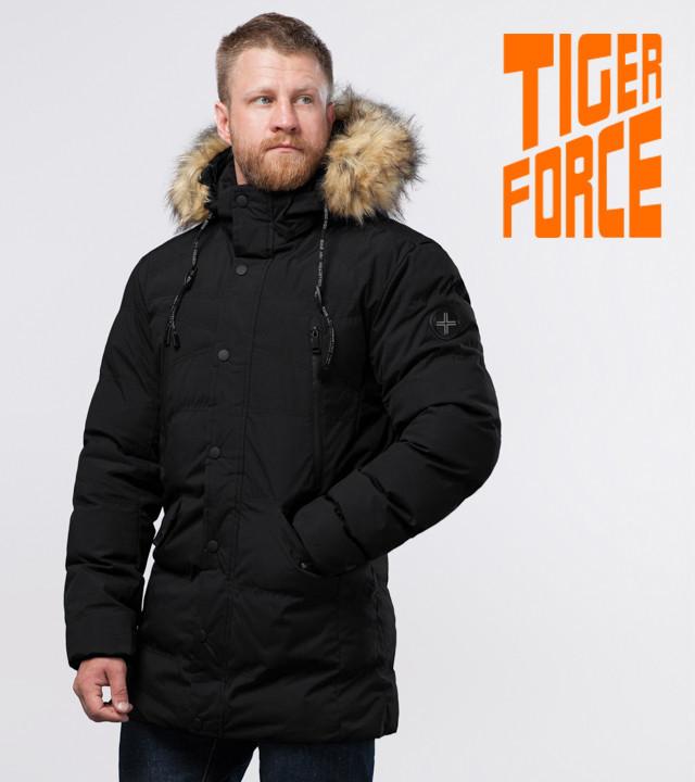 Tiger Force 72160 | Мужская куртка с опушкой черная