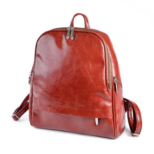 e953d0513e2e Коричневый рыжий рюкзак М179-94 на молнии вместительный городской: продажа,  цена в Днепре. рюкзаки городские и спортивные от