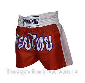 ШОРТЫ THAIBOXING CLASSIC MUAY THAI SHORTS RED/WHITE