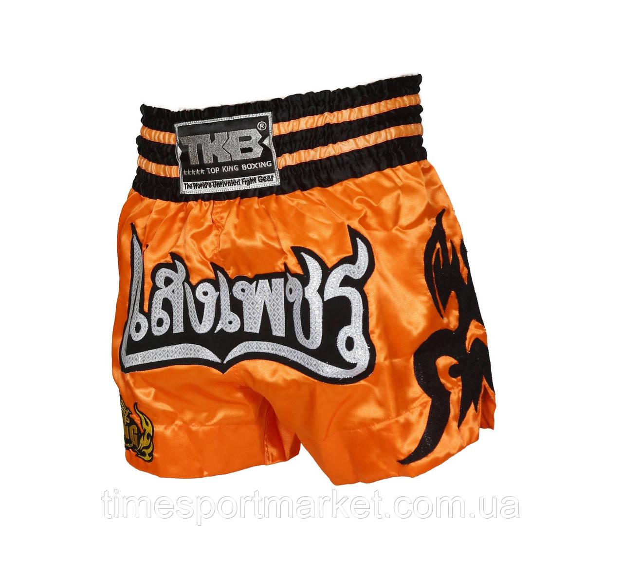 ШОРТЫ TOP KING MUAY THAI BOXING SHORTS - TATTOO ORANGE