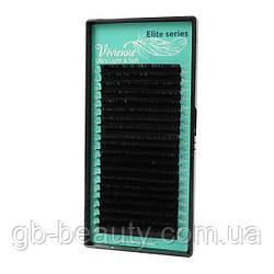 Черные ресницы серия Elit софт растяжка 0,15 D 9-14 (20 лент)