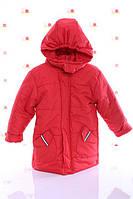 Детская демисезонная  красная  куртка   на рост 92-116, фото 1