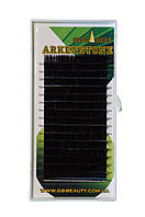Черные ресницы Arkenstone 0,1 D (8-14) (16 линий)