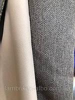 Ткань Блекаут лен однотонный бежево-серый