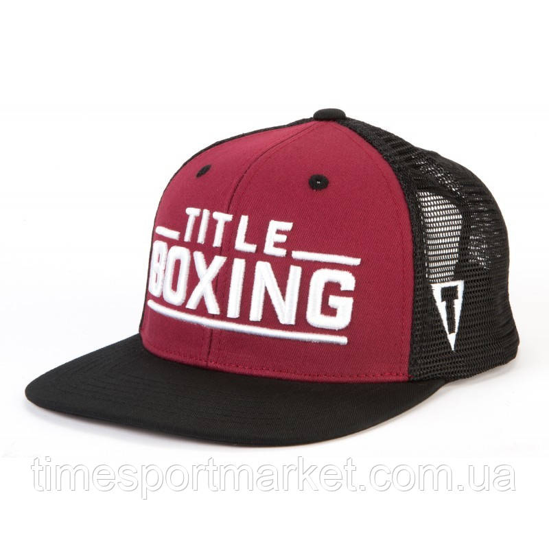 КЕПКА TITLE BOXING JUNCTION ADJUSTABLE CAP - FLAT BILL RED