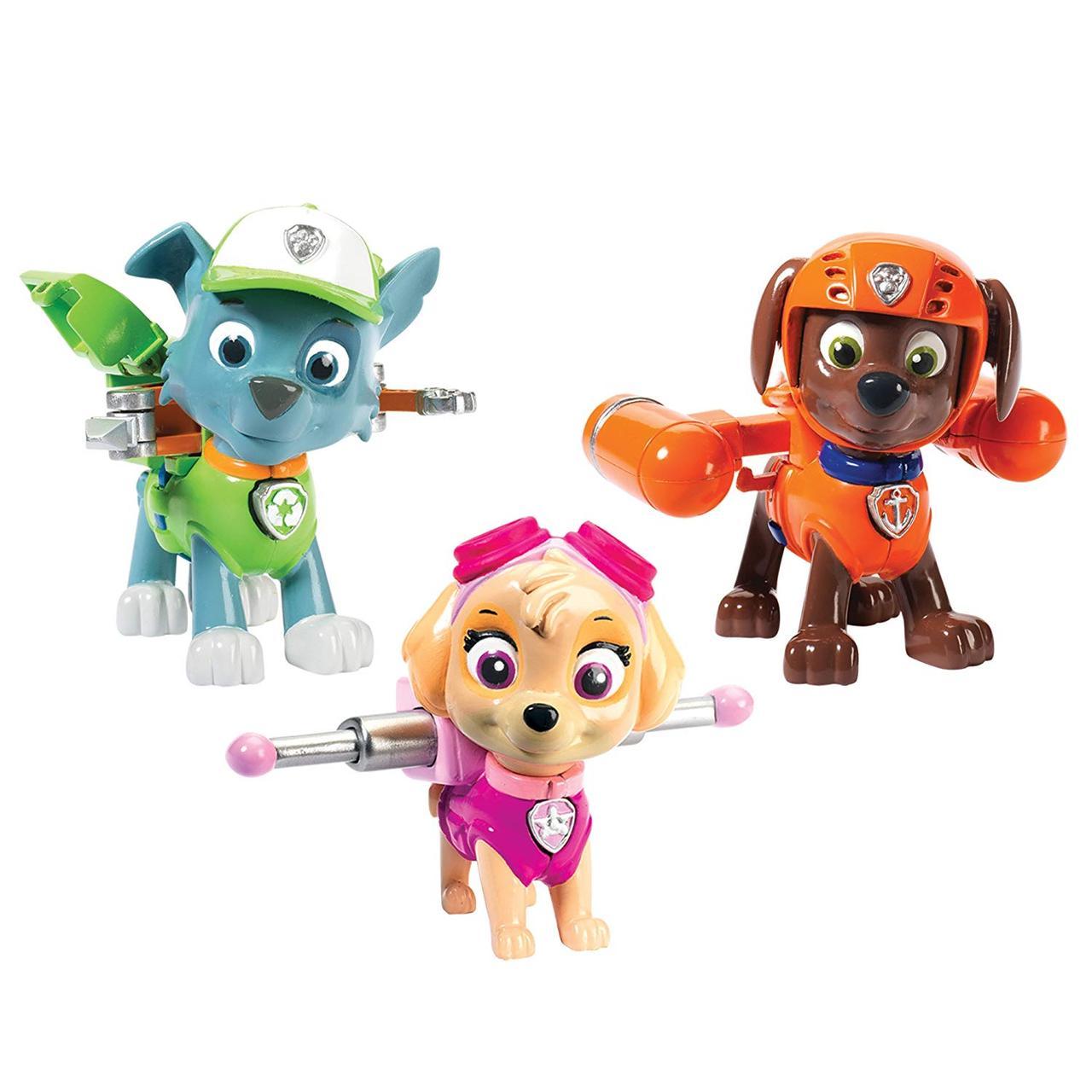Игрушка Щенячий патруль Скай, Рокки, Зума Paw Patrol Action Pack Pups Figure Set, 3pk, Skye, Zuma, Rocky