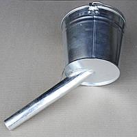 Лейка ведро для бензина, саляры (с фильтрующей сеточкой) угловое 5 литров