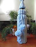 Новорічна прикраса на пляшку свитр і шапка Санта, фото 8