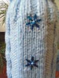 Новорічна прикраса на пляшку свитр і шапка Санта, фото 5