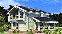 Двухэтажный деревянный дом из профилированного бруса 8х13 м, фото 1