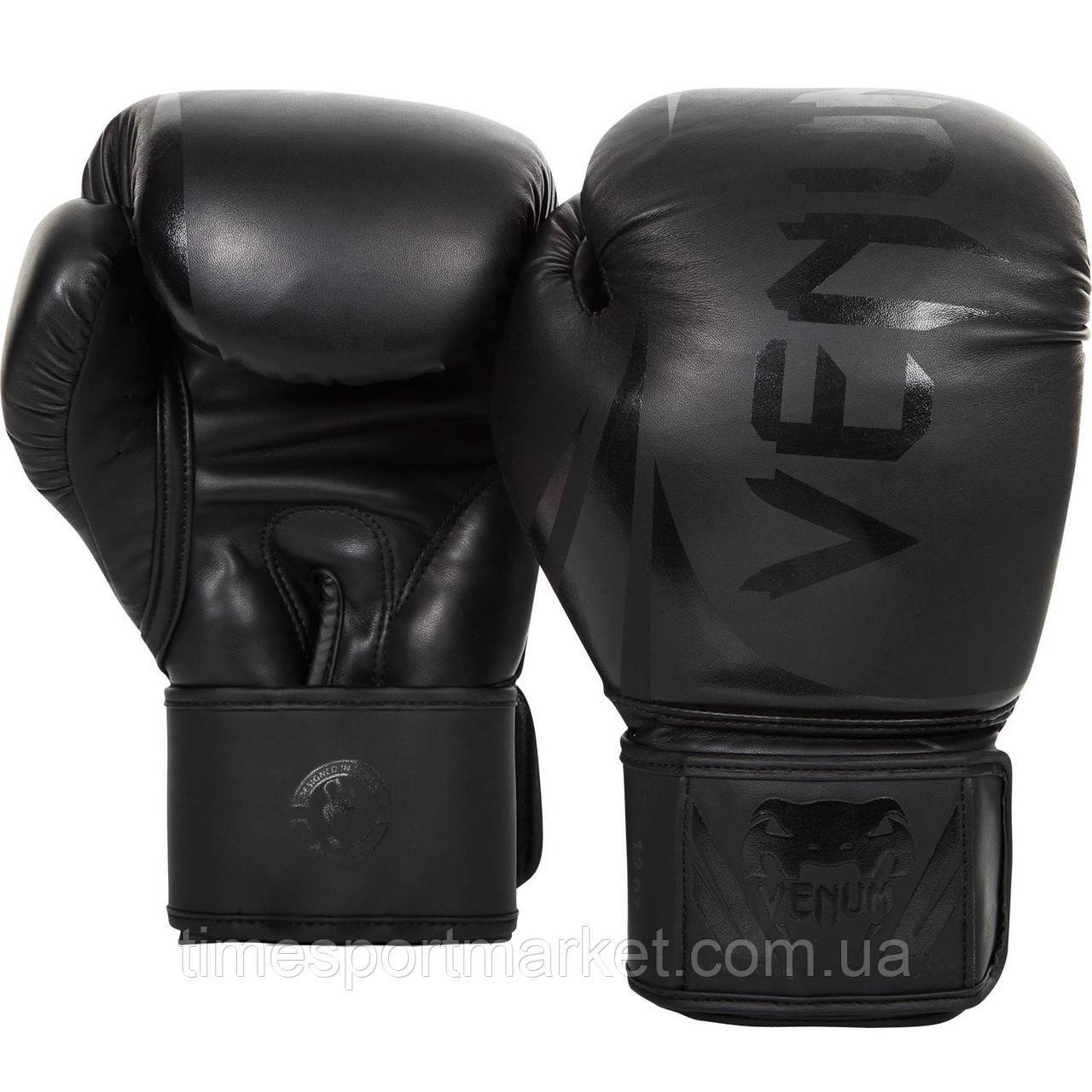 Перчатки тренировочные Venum Challenger 2.0 Boxing Gloves Black/Black