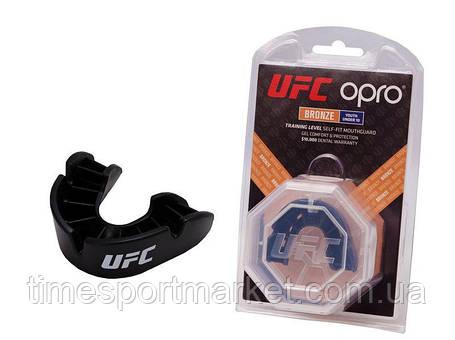 Капа OPRO BRONZE UFC HOLOGRAM BLACK, фото 2