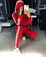 Костюм-двойка лосины и худи «SMART» красный, фото 2