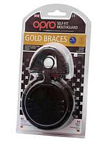 Капа OPRO GOLD BRACES BLACK  (совместимы с брекетами), фото 3