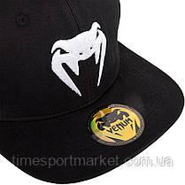 Бейсболка VENUM SNAPBACK CAP BLACK/WHITE, фото 3