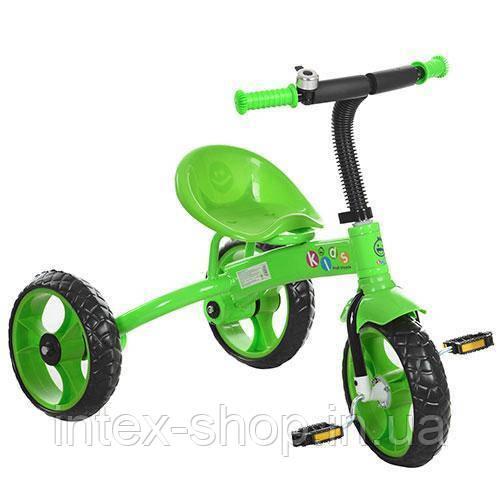 Трехколесный велосипед PROFI KIDS (M 3253) со звонком (Зеленый)