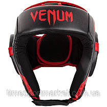 Шлем для соревнований VENUM CHALLENGER OPEN FACE HEADGEAR BLACK/RED, фото 3