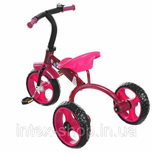 Трехколесный велосипед PROFI KIDS (M 3253) со звонком (Розовый)