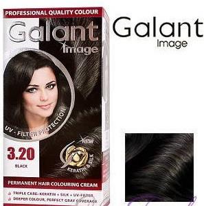 Стойкая крем-краска для волос Galant Image тон 3.20 Черный