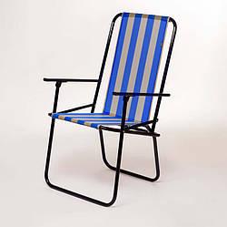"""Стул садовый раскладной """"Дачный"""" d18 мм (желто-голубая полоса) стул для туризма отдыха"""