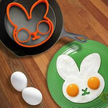 """Силиконовая форма для яиц """"Зайка"""" - размер 11*13см"""
