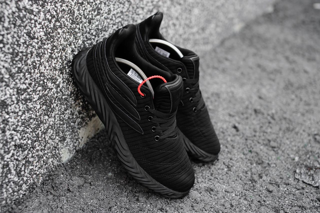 Мужские кроссовки Adidas Sobakov спортивные весенние качественные адидасы  для зала (черные) 3288738e1c08a