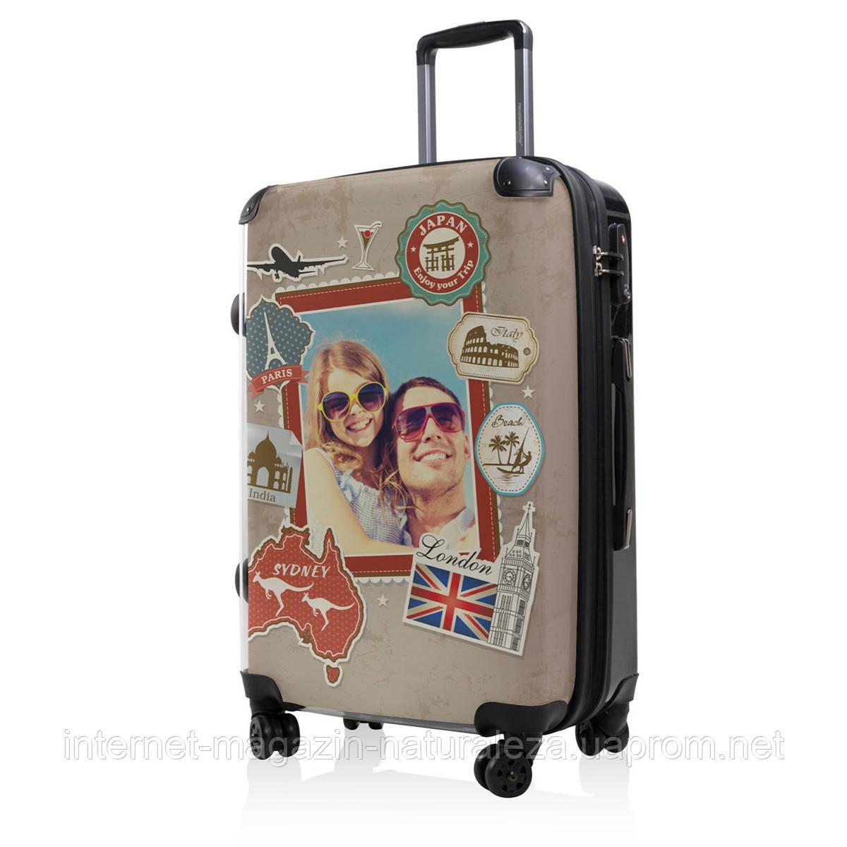 Дорожный чемодан Hauptstadtkoffer BLNBAG World Foto Midi коричневый