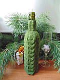 Декор вязанный чехол для бутылки вина,винный аксессуар, фото 2