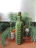 Декор вязанный чехол для бутылки вина,винный аксессуар, фото 3