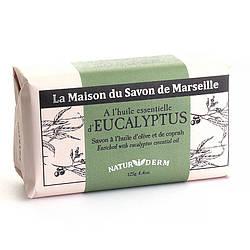 Мыло марсельское La Maison du Savon Marseille NATUR I DERM - EUCALYPTUS  125 г M12601