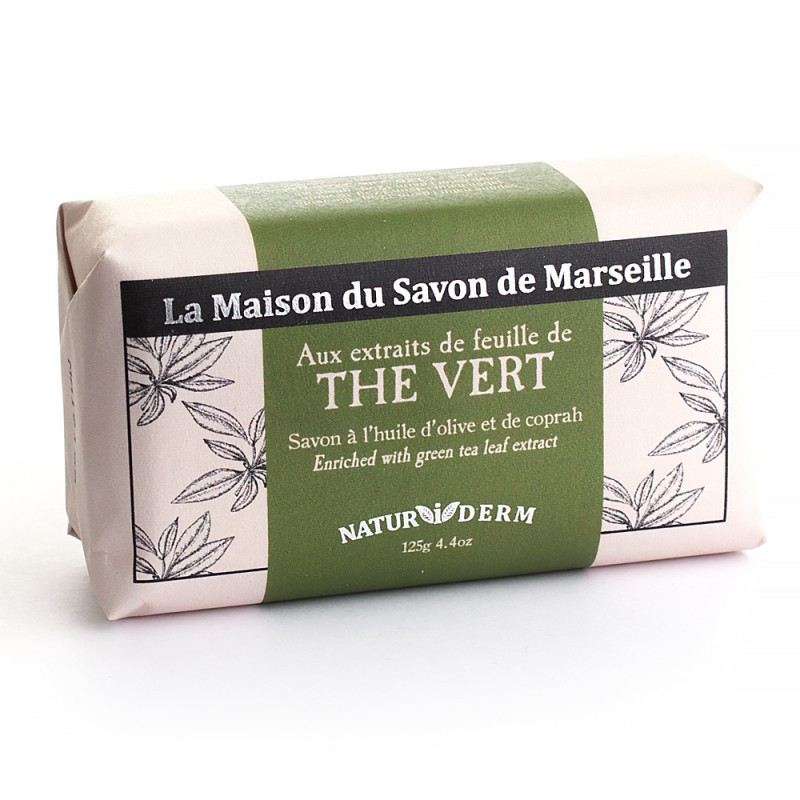 Мыло марсельское La Maison du Savon Marseille NATUR I DERM - THE VERT  125 г M12606