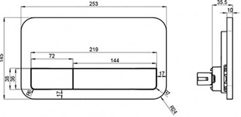 Клавиша смыва Villeroy&Boch ViConnect , фото 2