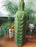 Декор вязанный чехол для бутылки вина,винный аксессуар, фото 4