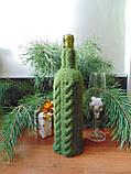 Декор вязанный чехол для бутылки вина,винный аксессуар, фото 5