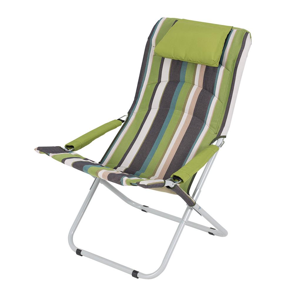 """Кресло-шезлонг для отдыха на природе """"Горизонт"""" d25 мм (Дралон)"""