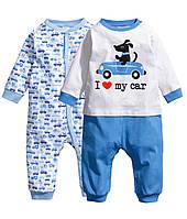 Детские человечки для мальчика (2 шт)  4-6 месяцев